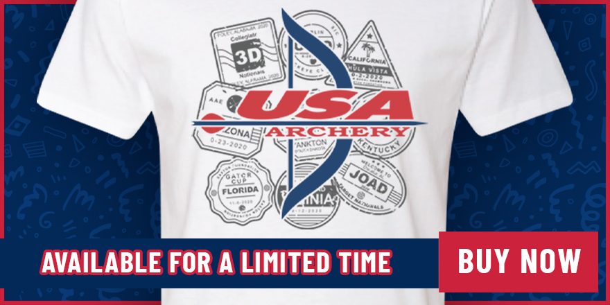Congratulations to Chad Ashworth, our T-Shirt Design Contest Winner! Check out the USA Archery Passport t-shirt 🏹 https://t.co/NbDcw9eASs https://t.co/p3BF9FyCig