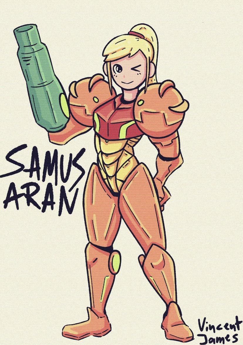 Samus Aran 👾 #fanart   #Nintendo #NintendoSwich #MetroidPrime #metroid #SuperSmashBros