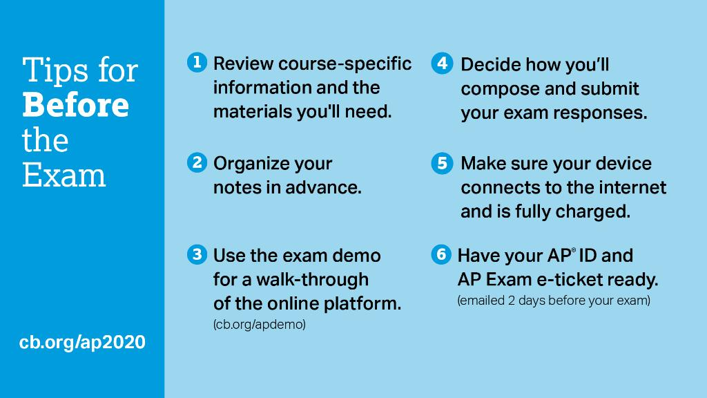 Take these steps to get ready for your AP Exams next week. spr.ly/6015GDUIh