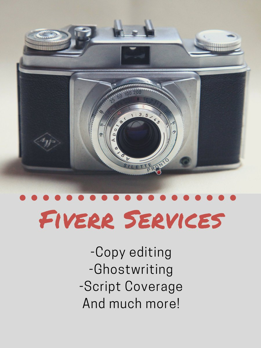 We now are offering various services through Fiverr! Services such as Copy Editing, Ghostwriting, Script Coverage and more! #movie#movies #instamovie #instafoto #instafilm #instamovies #cinematografer  #cinema  #cinematography #cinematicvideo #photographer #videoshoot #filmingpic.twitter.com/GZUynPblUk