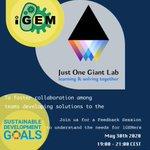 Image for the Tweet beginning: .@iGEM & @JustOneGiantLab are coming