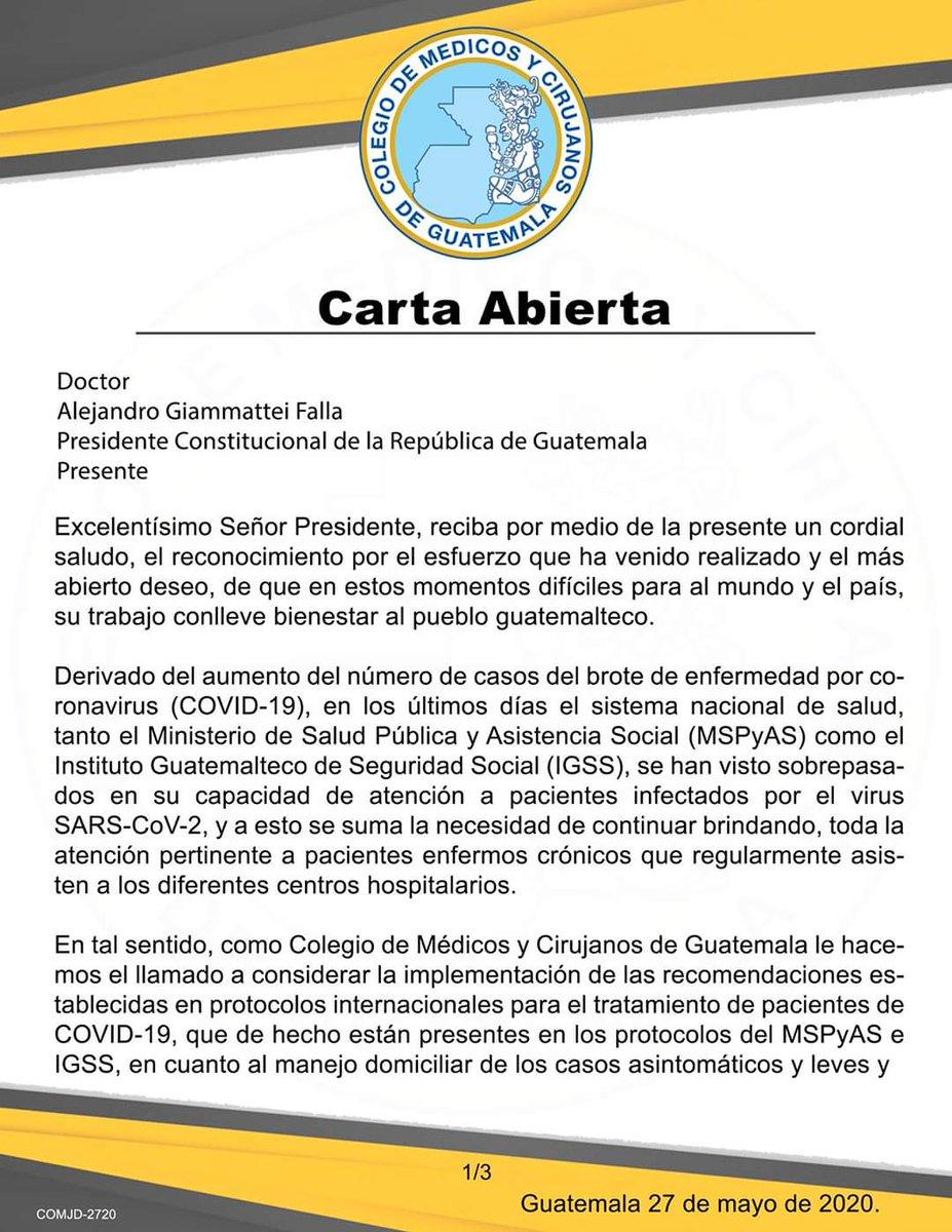 test Twitter Media - Colegio de Médicos se refiere en carta abierta al manejo de pacientes leves y asintomáticos. 👇🏻 https://t.co/d3kyEedSD8
