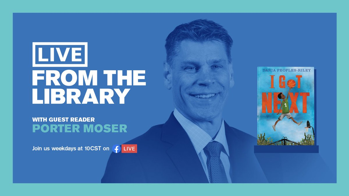 Our own @PorterMoser will be a guest reader in the @chipublib #LiveFromTheLibrary series tomorrow (May 28) at 10 am CT on Facebook.  📺: https://t.co/17Rr9pOytL  #OnwardLU #MVCHoops https://t.co/jDqR3gL7QR