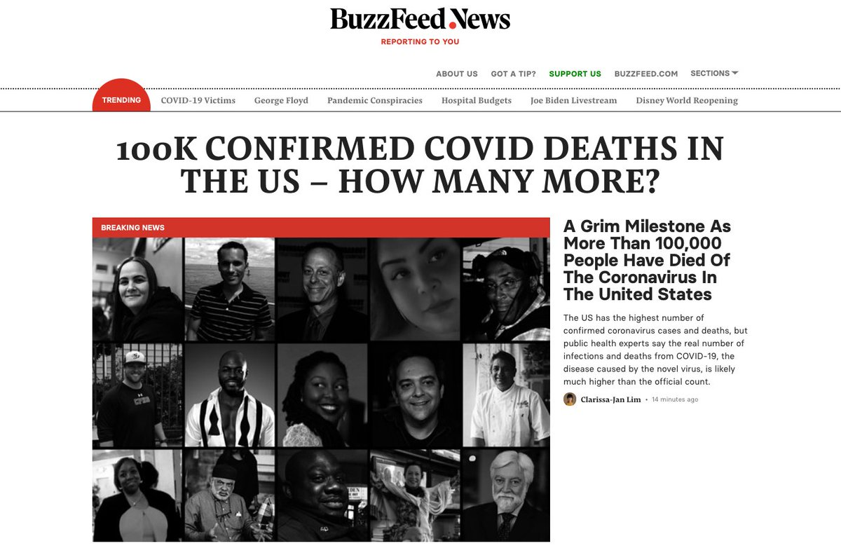 The home page of @BuzzFeedNews buzzfeednews.com