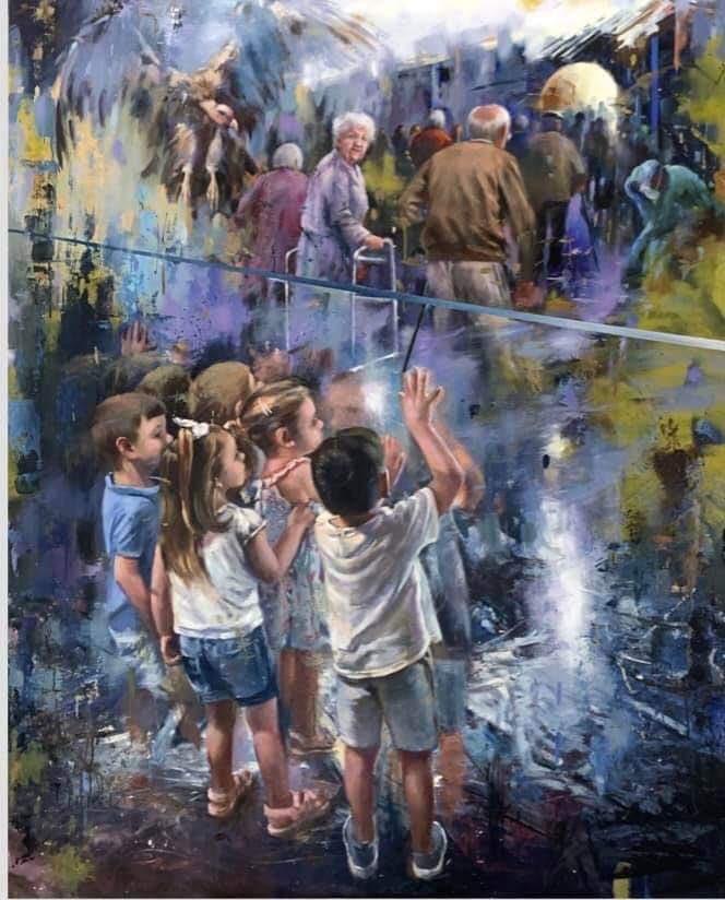 Ο πίνακας που συγκινεί: Για όσους και όσες έφυγαν χωρίς να αποχαιρετήσουν τα εγγόνια τουs…