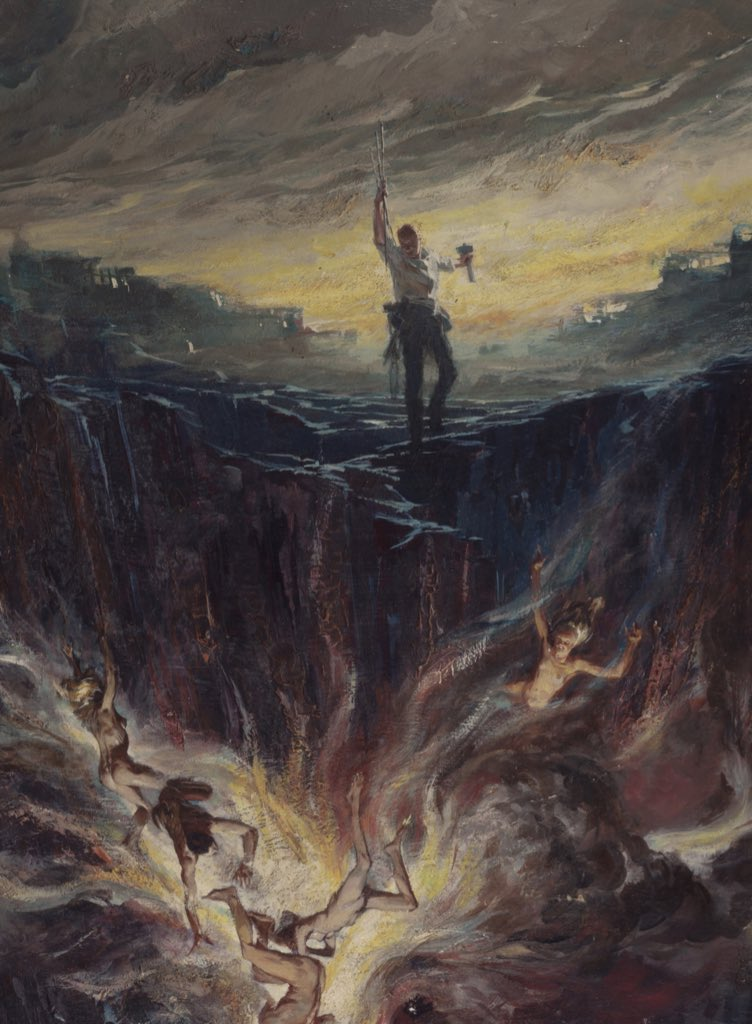 The original cover painting for the first printing of the late great Richard Matheson's I Am Legend by Stanley Meltzoff. (1954) #horror pic.twitter.com/WU6u2F0bs7