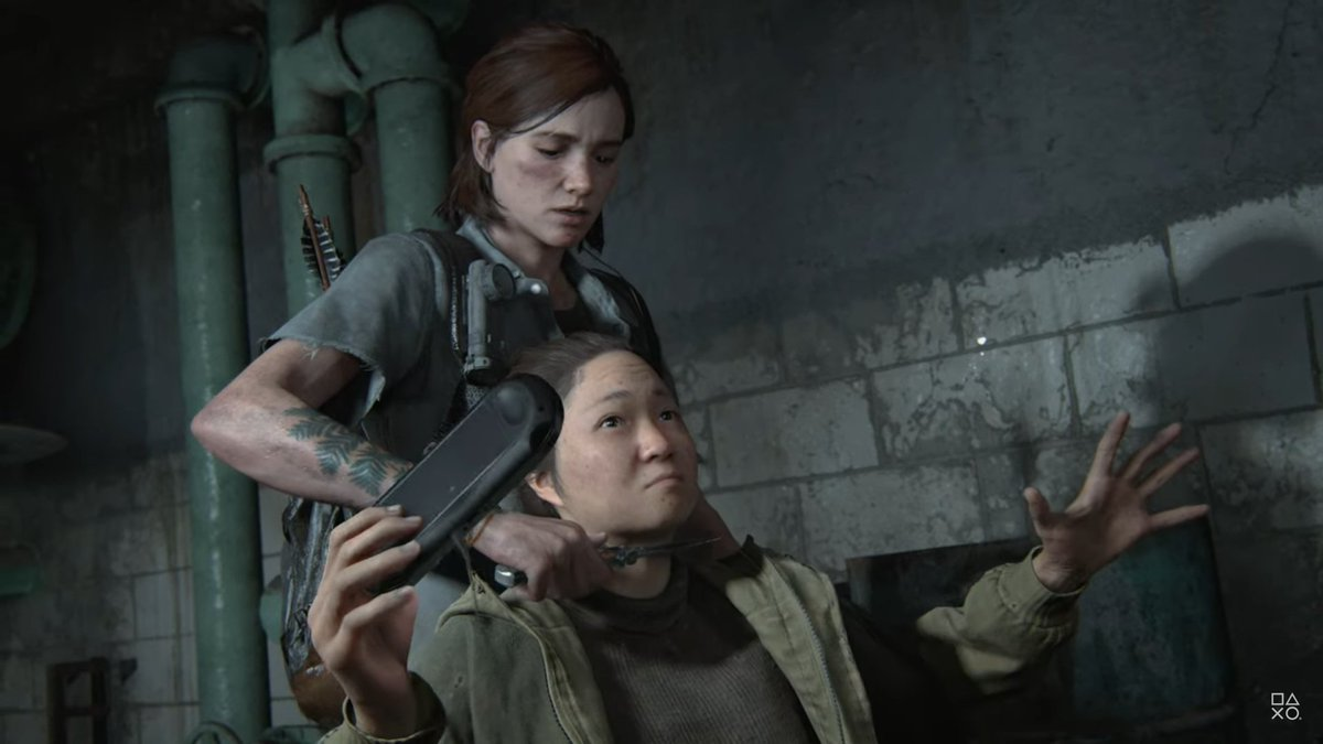 The Last of Us 2 claims to be a realistic video game but it depicts someone playing the PlayStation Vita in 2038. <br>http://pic.twitter.com/pztc03QwkT