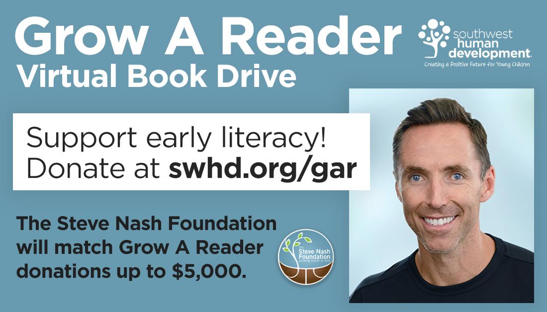 @SteveNashFdn is matching #GrowAReader donations! Support early #literacy by donating today at https://t.co/AEavut2tsn 📚 https://t.co/hpd5Ynqf0Z