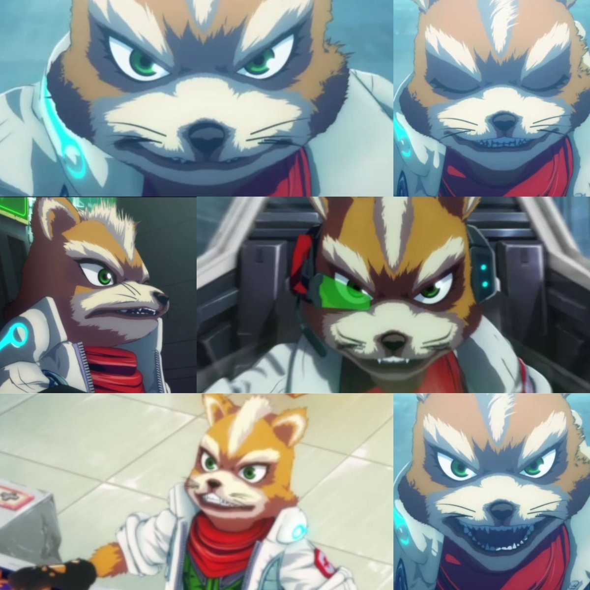 Was having a little too much fun screen capturing the Star Fox Zero The Battle Begins short. Lol  I'm dying #starfox #nintendo #funnypic.twitter.com/2qEx0kD9TT