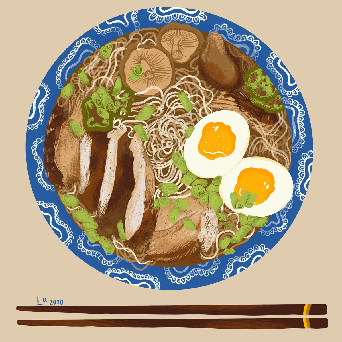 I am so proud of how this ramen bowl turned out  #illustration #digitalartist pic.twitter.com/qbgi2MII82