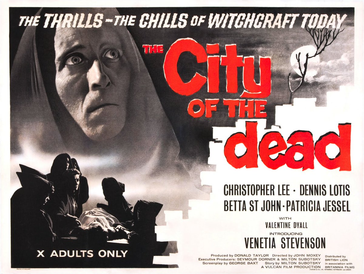 """Completing the double-bill for the birthdays of Vincent Price and Christopher Lee (with 10 minutes to spare!). #NowWatching """"The City of The Dead"""" (1960). <br>http://pic.twitter.com/meQVi45EEl"""