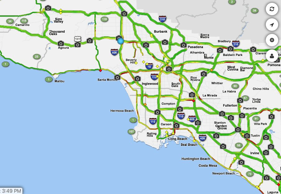 Crazy to see Los Angeles traffic slowly returning to its usual atrociousness in real time:
