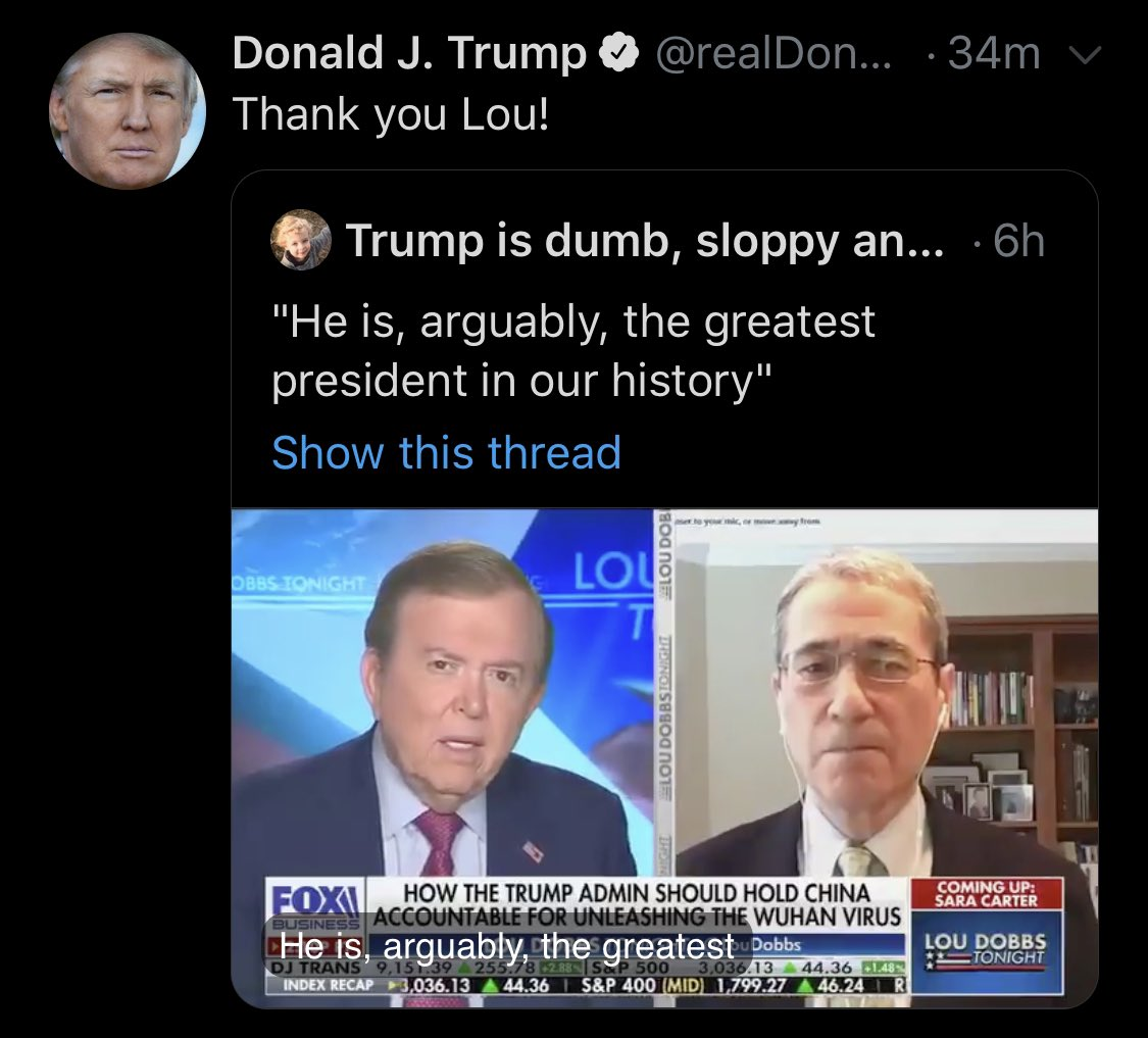 Check out the display name of the account Trump just retweeted (@ndrew_lawrence)