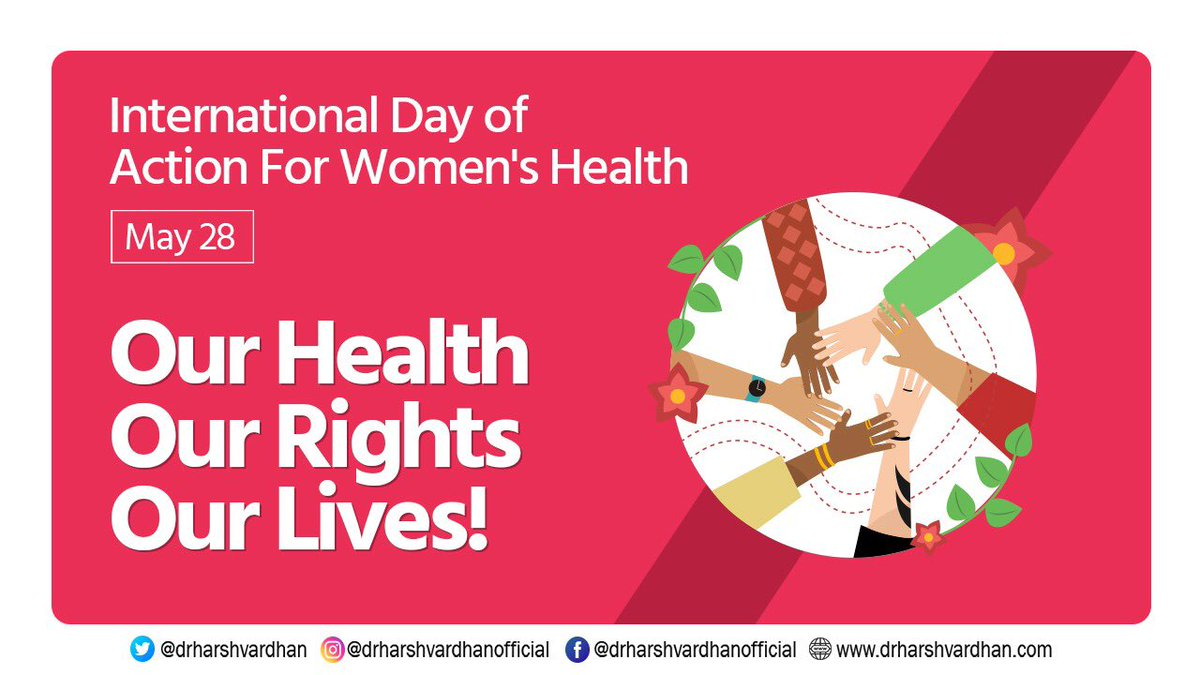 May 28 is International Day of Action for Women's Health. Lets raise awareness on issues pertaining to women's Sexual & Reproductive Health Rights. There's no limit to what a woman can achieve if supported by society.. #ItsTimeForAction ! #Womensrightsarehumanrights