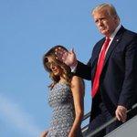 Image for the Tweet beginning: Trump griber ind mod sociale