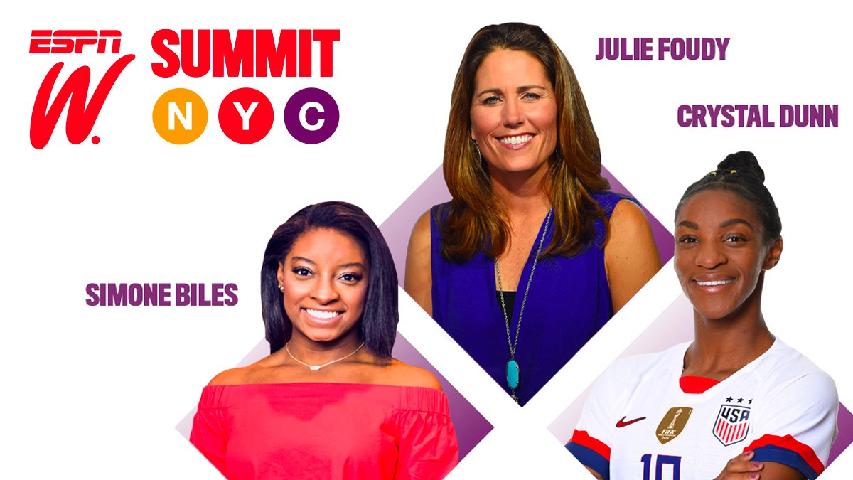 Party people. It is not too late to register for our @espnW virtual NYC summit. It is FREE!: https://t.co/x3XWH8M18R .  The event goes from 2-5pET tomorrow. We are doing two quick #LaughterPermitted podcast chats with two rockstars: @Simone_Biles and @crysdunn_19. Let's goooo! https://t.co/NpmJasCnpY