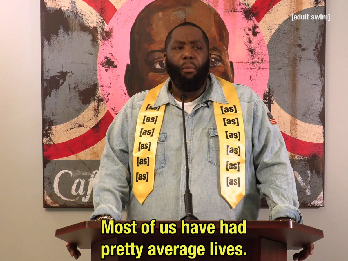 Activist and rapper @KillerMike achieves the realest levels of realness in this reflection on failure and staying true to yourself. You will feel better after watching this one. #ASCommencement adultswim.com/commencement