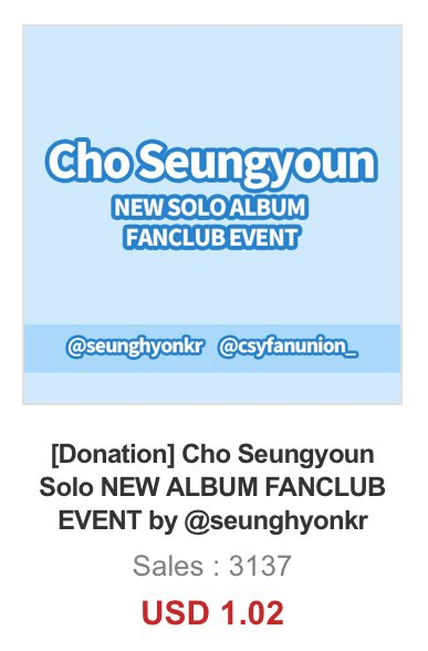 Just woke up and we already reach our goals... omg Thank you so much! The donation link will open until seungyoun's comeback date so please do if you haven't, and when the discount link is out, please buy it through the link to reach 5K sales and get seungyoun a subway ads!  https:// twitter.com/seunghyonkr/st atus/1253547510624215040   … <br>http://pic.twitter.com/b3DeZn8wrK