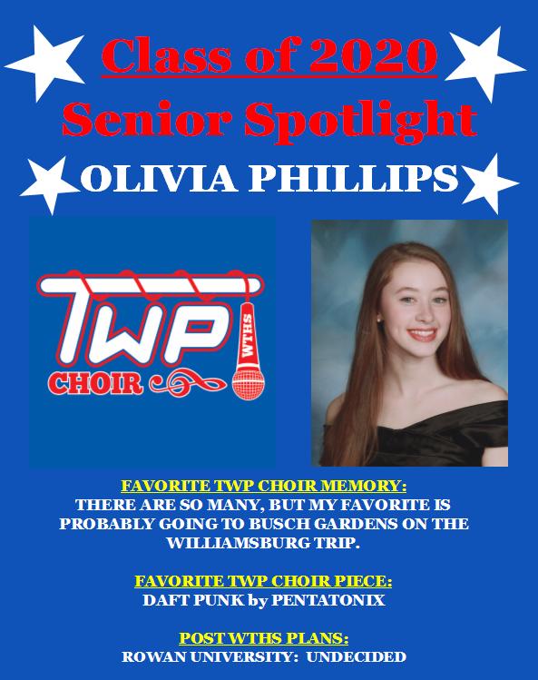 Our last TWP Choir Senior Spotlight of the evening is Chorale Soprano Olivia Phillips!! @TWPSuperVPA<br>http://pic.twitter.com/XXrr2qDJoJ