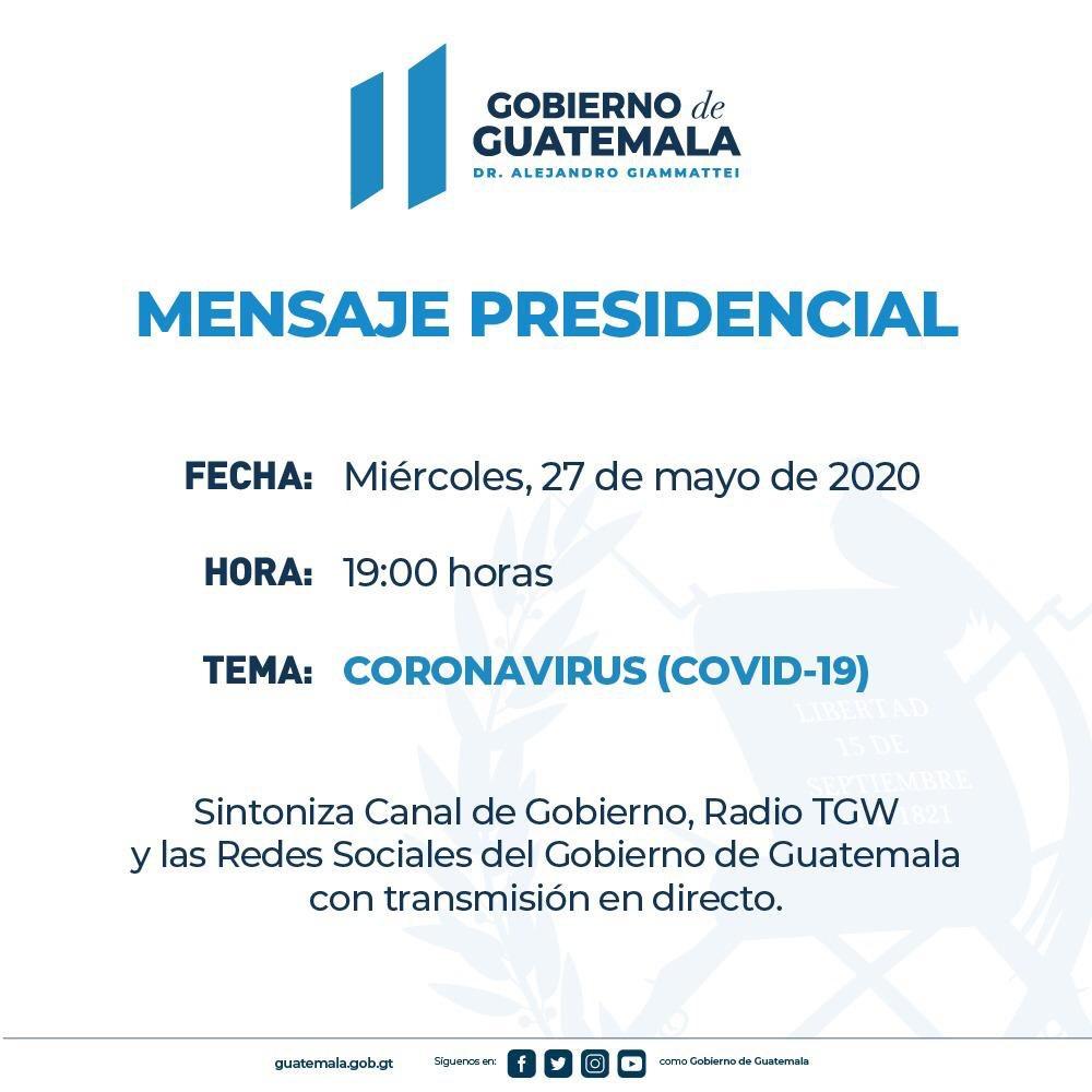 test Twitter Media - Gobierno anuncia mensaje presidencial a las 19:00 horas https://t.co/9cxcIV6nY9