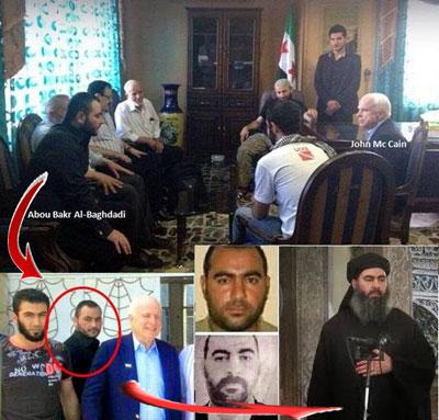 4/4 Además de otras aseveraciónes como el vínculo del estado norteamericano con Al Qaeda y el Estado Islámico donde he demostrado con fotos que comprometen claramente a políticos norteamericanos con el Estado Islámico como lo fue el ex senador John McCain.