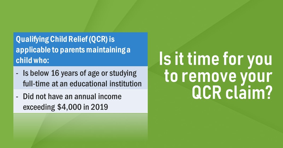 Qualifying Child Relief is applicable to parents maintaining an unmarried child who satisfies the below conditions. 👉🏻 Log in to myTax Portal to edit your tax form and remove your QCR claim, if otherwise. https://t.co/eslbKLa44z