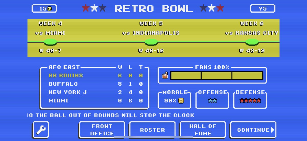 #RetroBowl Y5 of the #UCLA #Buildbox Bruins +181 Led by @DoriansTweets & @demetricfelton7 🐻 🏈 🎓  #Pac12Retro @UWretroDawgs @RB_USC_DYANSTY @retro_bowl @RetroBowlLegend #pac12retrobowl @retroregon  @UCLAFootball @RetroCFBNetwork @RBCDL_Commish #uclabound #uclafootball #nocode https://t.co/4jgs8WjzqN