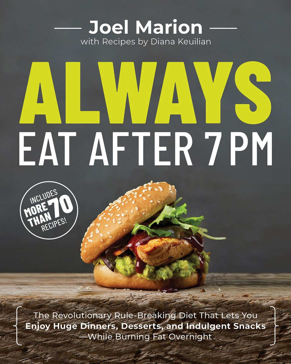 Check out #AlwaysEatAfter7PM by @JoelMarion01 for tips on how to lose weight. #AlwaysEatBook talks about the science behind diet and how late-night eating actually curbs calorie intake the next day. #ad https://t.co/ibCtIWjMZg #BioTrust