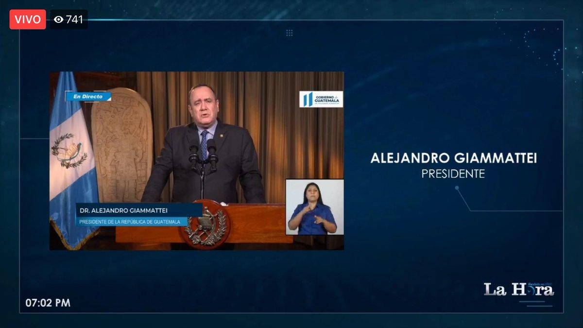 test Twitter Media - Inicia el mensaje del presidente Alejandro Giammattei, asegura que hay buenas noticias, hay más de 715 mil hogares inscritos, dice. https://t.co/NAmxwYAMcz