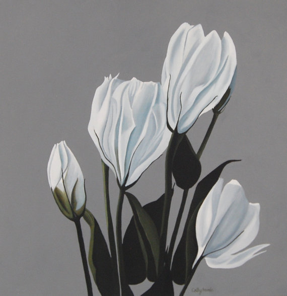 White Lisianthus Flower Painting http://dld.bz/eFeYp flowers interiordesign homedetails homedecor pic.twitter.com/11v7Rs7zMF