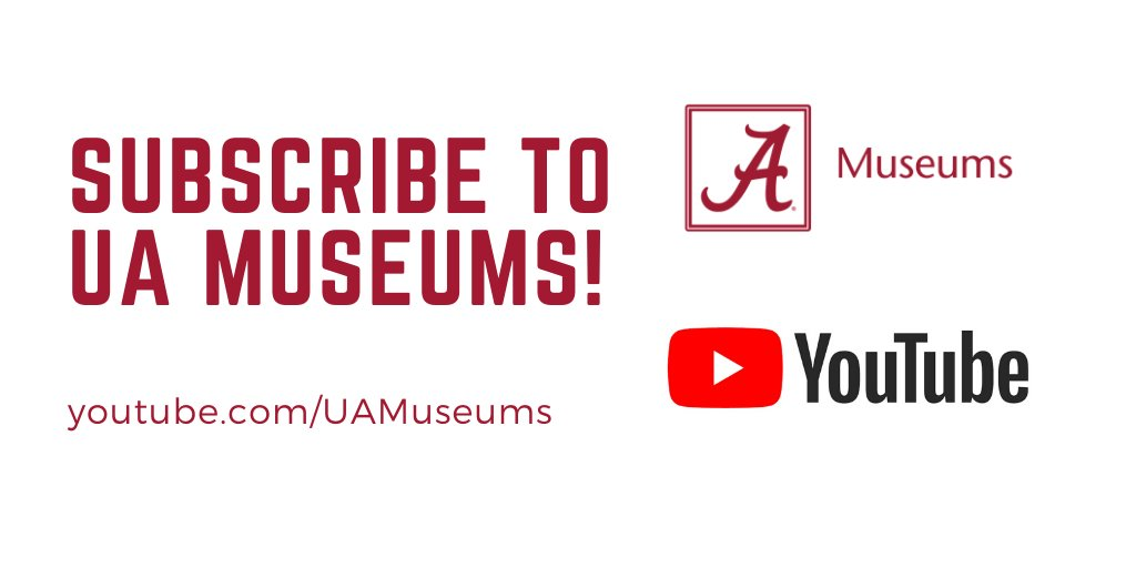 Never miss @uamuseums video content by subscribing to our @youtube channel!  🔗 : https://t.co/duWUKIQKrN  #UAMuseums #RollTide #MuseumFromHome #Museum #Museums #MoundvilleMondays #NaturalHistory #Alabama https://t.co/hyvCNNtyvd