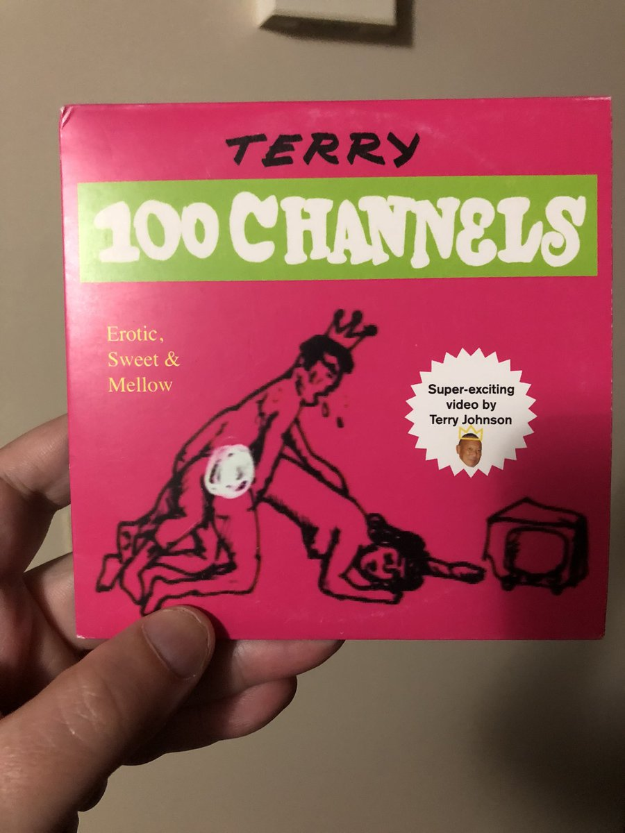 "By far the most unusual product of Shinya Tsukamoto's ad days - ""Terry 100 Channels"", a 30-minute promotional video Tsukamoto put together in 1985 for the illustrator King Terry. Unbelievably, released on dvd in the west in 2010 by the art comics publisher PictureBox. <br>http://pic.twitter.com/GO5gBJGBKV"