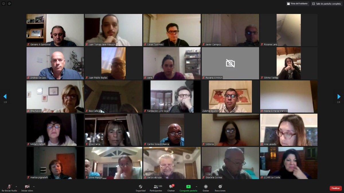 Tuvimos un encuentro virtual para analizar el rol de la oposición y el escenario político y económico post Covid19 junto con @PatoBullrich, @marioraulnegri y @maxiferraro y militantes y dirigentes de @juntoscambioar del sudoeste bonaerense. ¡Gracias a todos por el compromiso! https://t.co/o0nQq20sHk