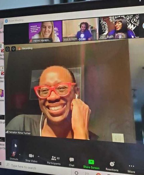 Don't let this smile fool you. By the second pic, sis @ninaturner was blowing fire through the screen!