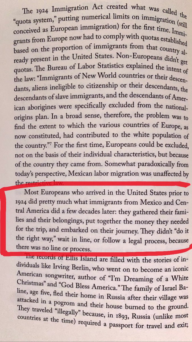 """This goes out to all the people who say """"my ancestors did it the right way"""". The book is called """"Undocumented: How Immigration Became Illegal"""" if you ever want to actually educate yourself on the United States' history of immigration. <br>http://pic.twitter.com/TF8qCiUIam"""