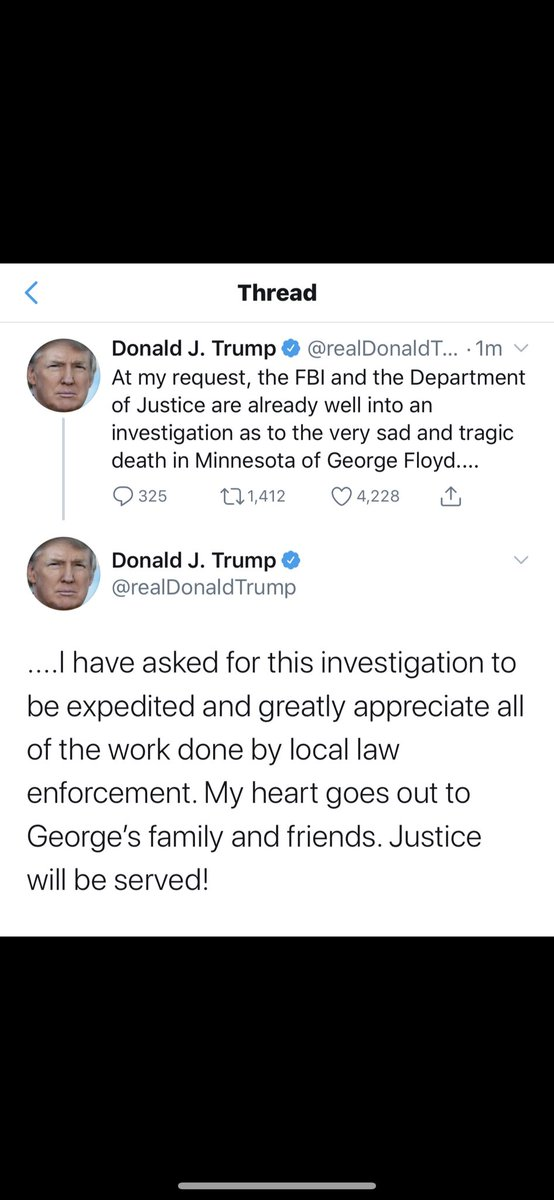The officers have been fired! President Trump has instructed the FBI to take this investigation serious so why are people stealing and looting stores ? They are not stealing for #JusticeForGeorgeFloyd They are stealing because they are bunch of no good thieves