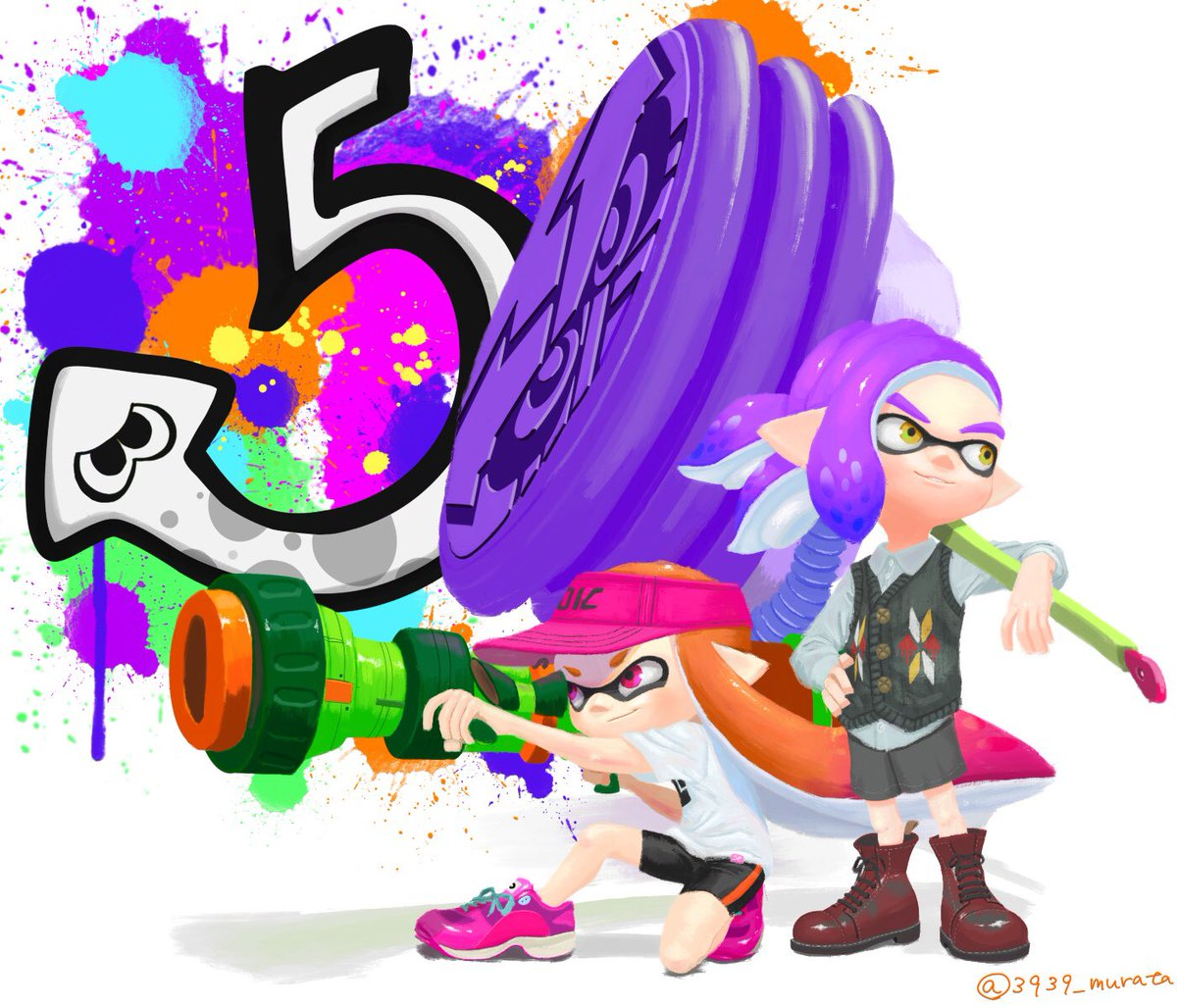 スプラトゥーン5周年!これからも永く続くゲームでありますように!  #スプラトゥーン5周年