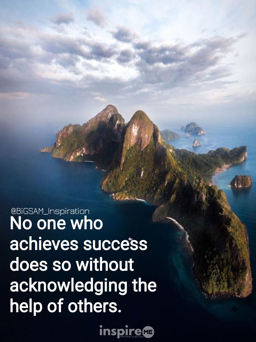 No one who achieves success does so without acknowledging the help of others. °inspireME #thankful #thankfulthursday #BiGSAM_Inspiration #bigsam_inspiration #quote #explore #entrepreneur #encouragement #inspiration #inspireME #comments #TFLers #tweegram #quoteoftheday #true