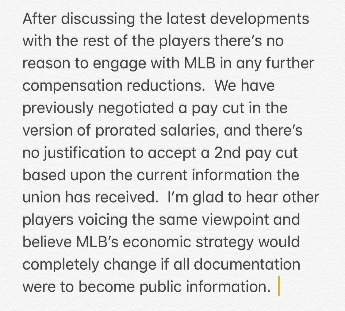 Major League Baseball and Players Continue Talks on Tuesday