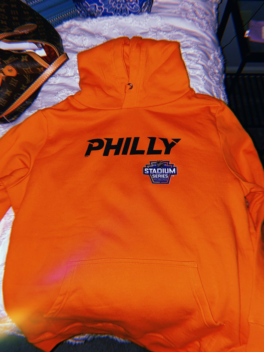 also, loml (@iBleedPhilly) got me the philly hoodie to match my stadium series beanie 🧡 i can't wait to rock the fuck out of this when we're watching our x-@NHLFlyers ‼️ thanks baby https://t.co/a6qcSuwan6
