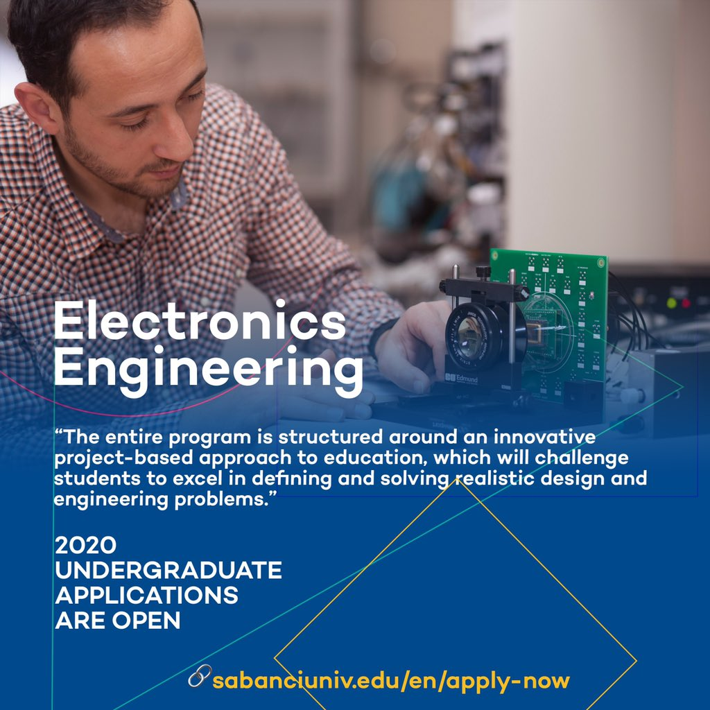 The #ElectronicsEngineering (EE) program is designed to provide the theoretical fundamentals and a comprehensive technological background for leading edge work in this rapidly developing field.