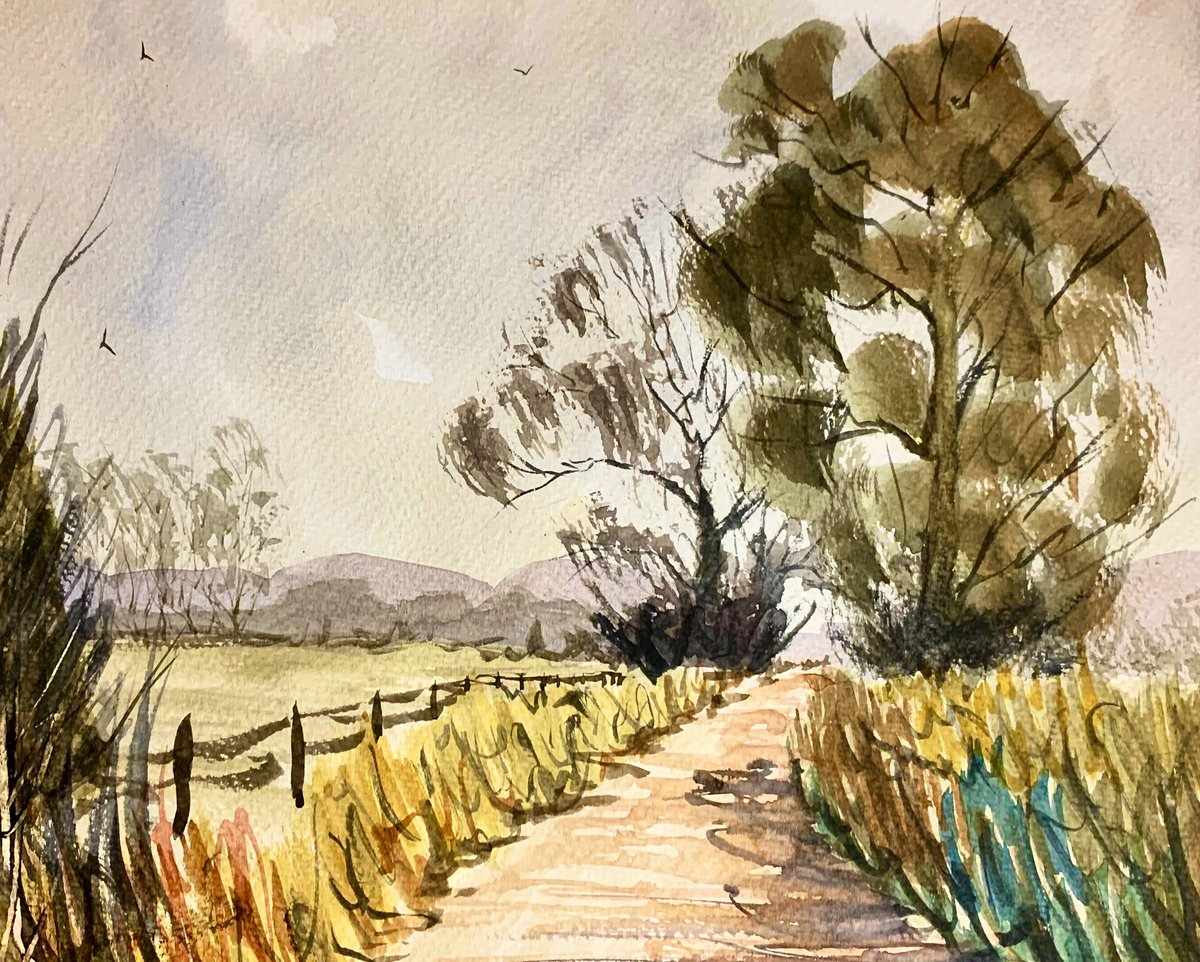 Impression of a county lane. #watercolour #pleinair #impressionism #artpic.twitter.com/Yni5BfvFbM
