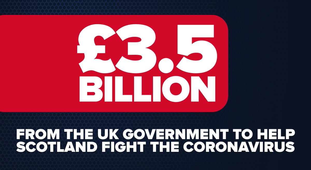 This shows just how committed the UK Government is to supporting Scotland through this crisis.  In times of real crisis, the UK sticks together. https://t.co/KvfZnyrh9y