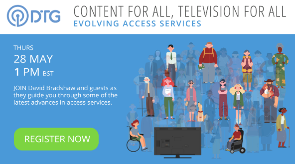 Last chance to register for Evolving Access Services webinar hosted by David Bradshaw @theDTG - with Dr @Mariana_J_Lopez (University of York), Nigel Megitt (BBC) & our coordinator Dr @giacomoinches (@FinconsGroup) ... Register here: bit.ly/3g60Mb2