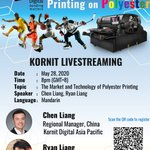 Image for the Tweet beginning: Join #Kornit live #webcasting at