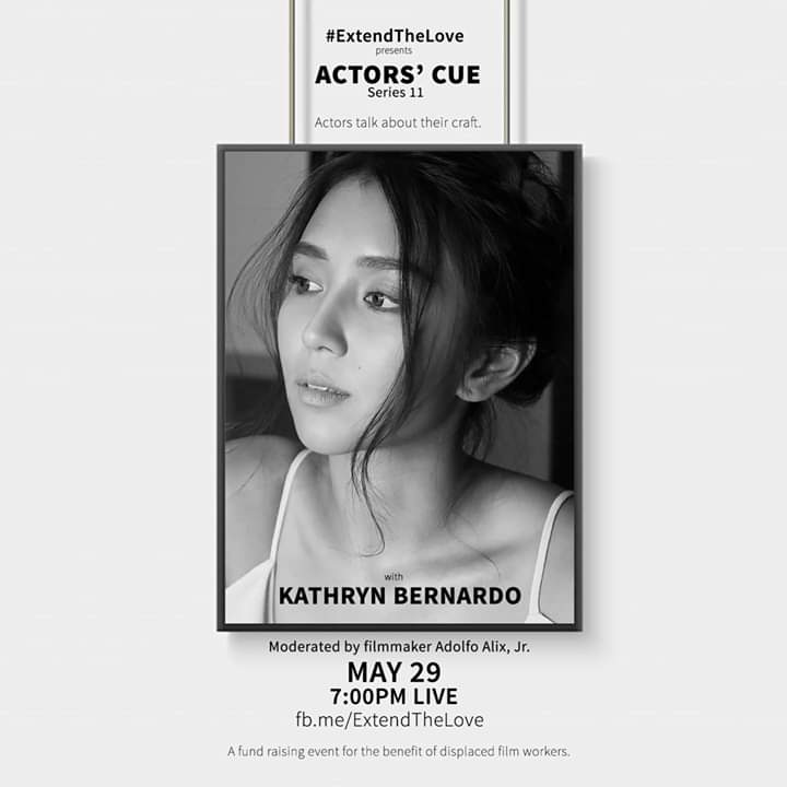 Kathryn will be joined by Miss Dimples and Maymay for Actors' Cue tomorrow at 7 pm.