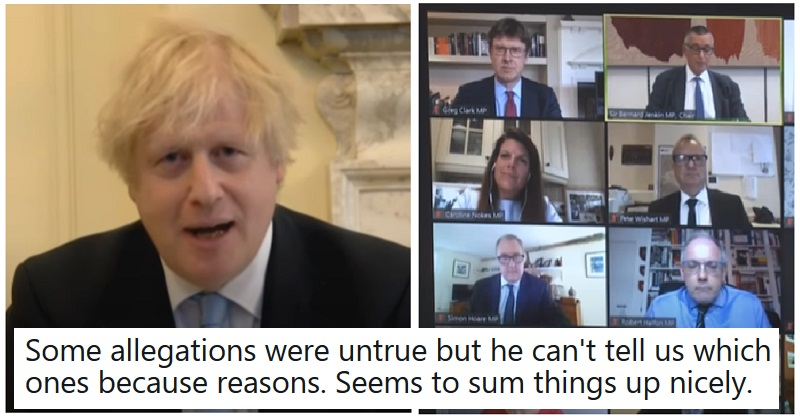 Boris Johnson's Liaison Committee appearance went as well as you'd imagine -14 damning verdicts. thepoke.co.uk/2020/05/28/bor…