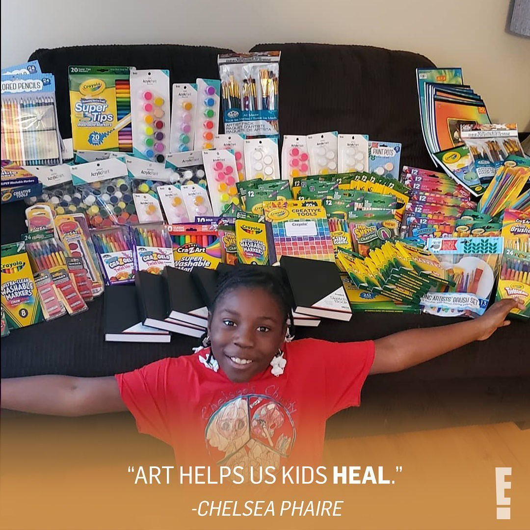 With a little help from birthday donations and tooth fairy money, this 10-year-old girl has sent art kits to more than 1,500 children in foster care and homeless shelters.  Cheers to you Chelsea for your beautiful and colorful heart. (: chelseascharity) <br>http://pic.twitter.com/XYtEFc6Tua