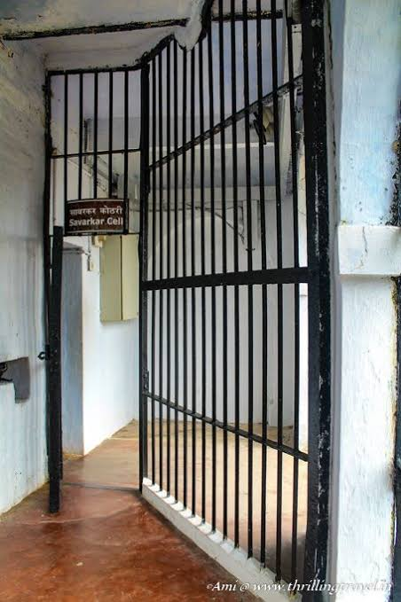 We then climbed the stairs and went to top floor, Savarkar was only prisoner who was locked behind 2 doors. This image is the first door and inside on left is second door. Why Savarkar was kept behind 2 doors? Because he was most dangerous for British there.