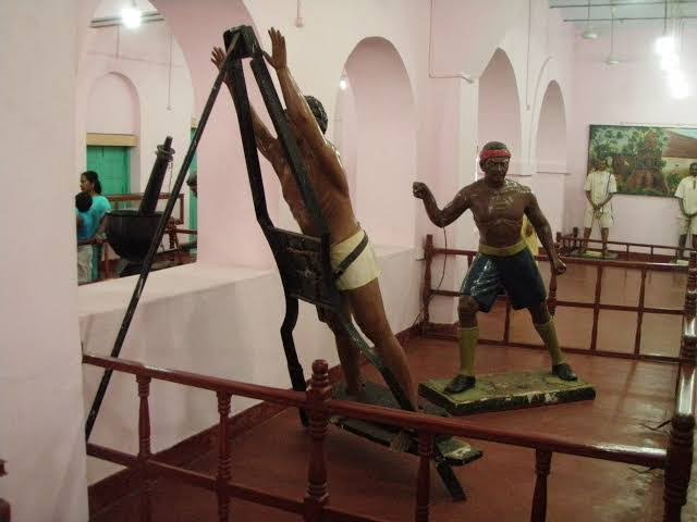 But there was much more than that, prisoners were punished there like this, they had to do hard labour, many of them collapsed and some even died.Food there was awful, full of insects and stones( read this in a book in cellular jail Library).